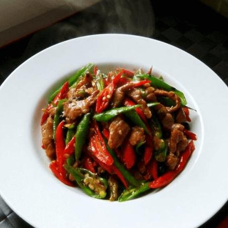 开胃的辣椒炒肉