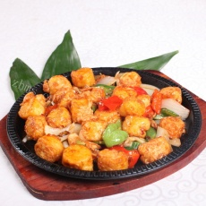 家常菜铁板豆腐