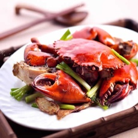 好吃的姜葱炒蟹
