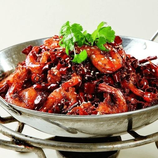 诱人的干锅香辣虾