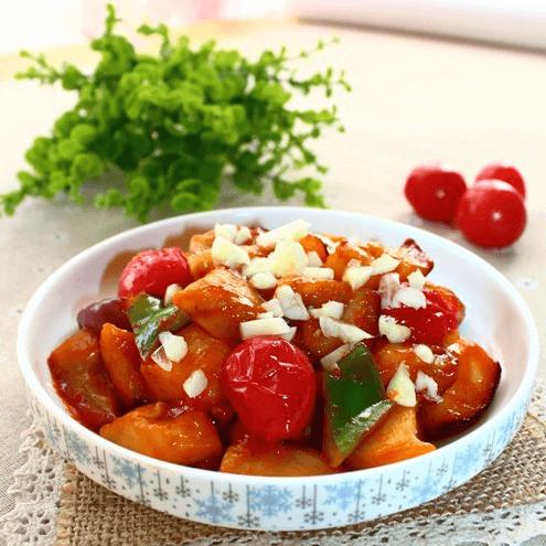 易做的西红柿烧茄子