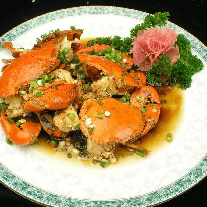 美味的姜葱炒蟹