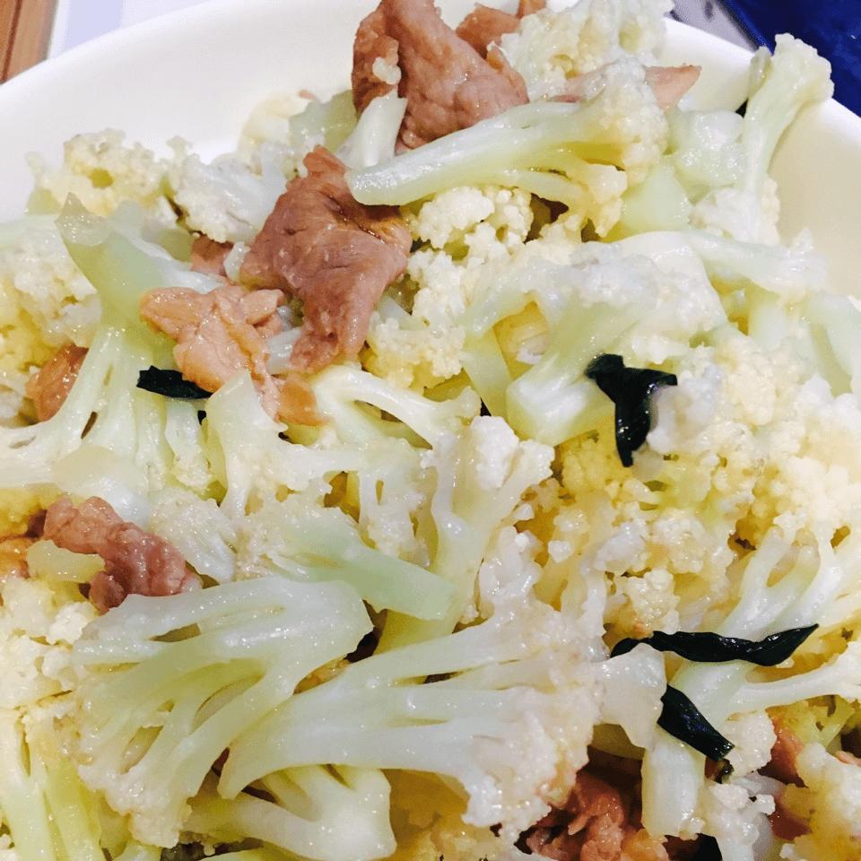 DIY花菜炒肉