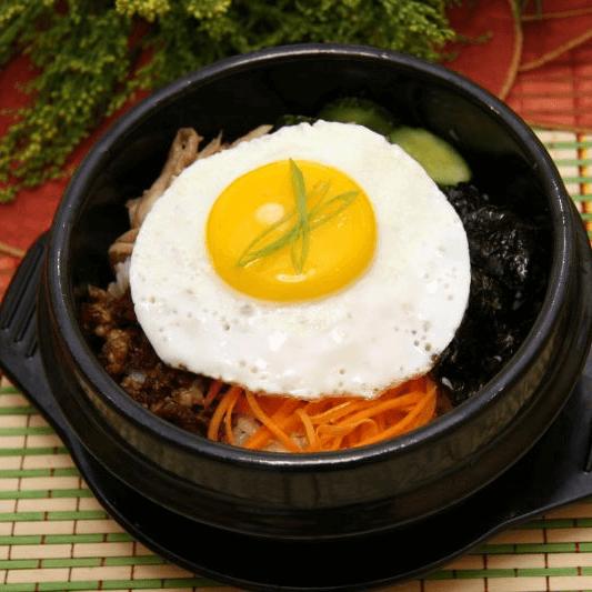 美味的韩式拌饭