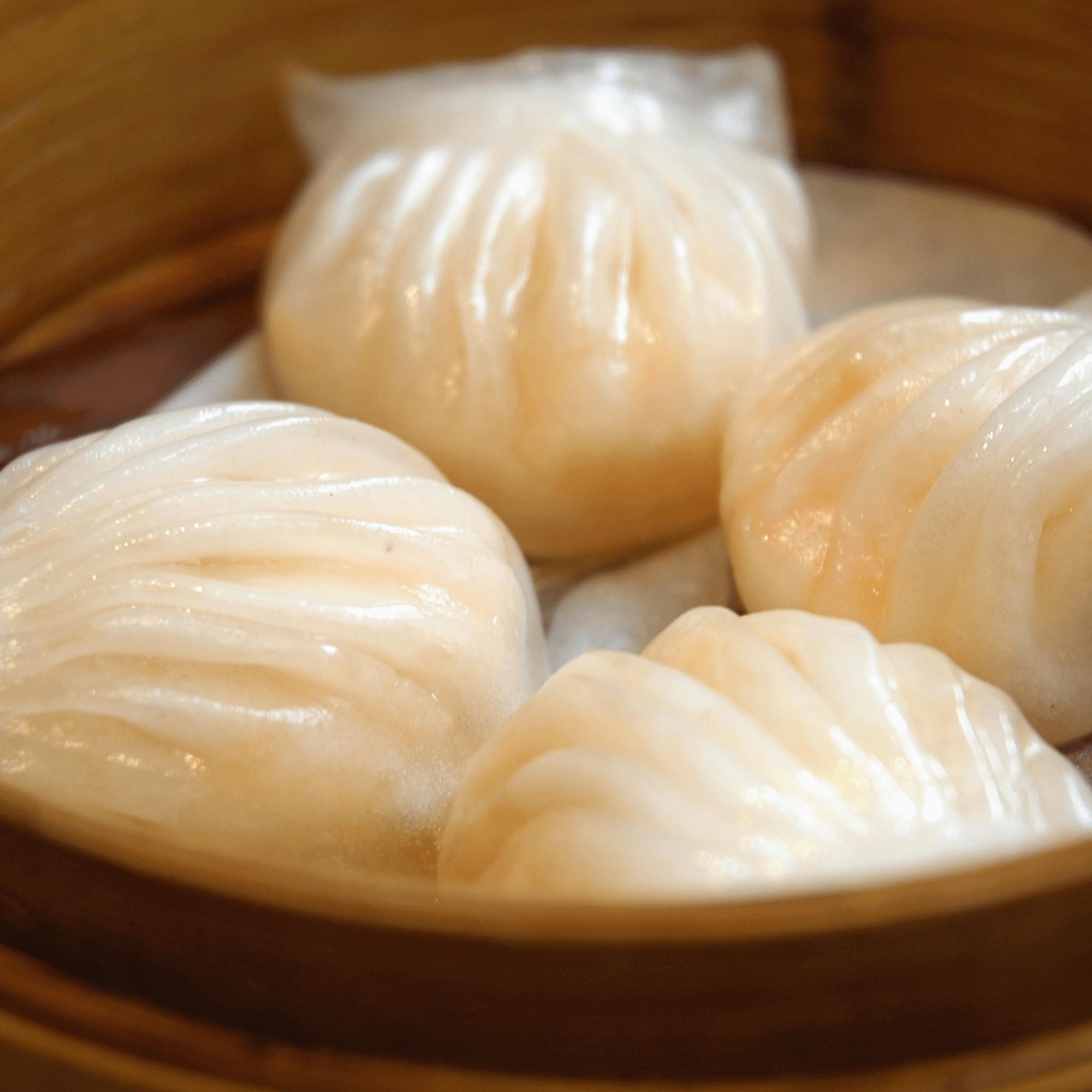 创意美食水晶虾饺