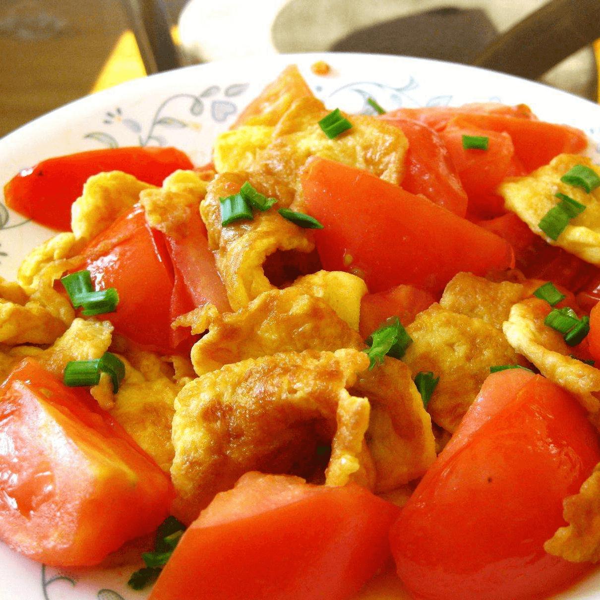 营养丰富的西红柿炒鸡蛋