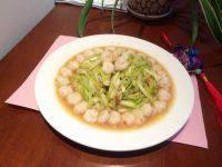 家常菜韭黄炒虾仁