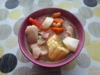 美味的山药猪蹄汤