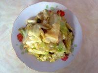家常菜炝炒圆白菜