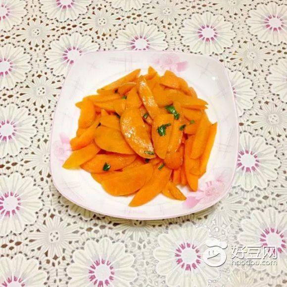 自己做的炒胡萝卜
