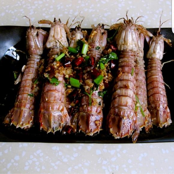 特色美食椒盐皮皮虾