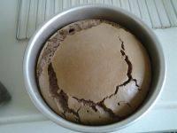自己做的可可蛋糕