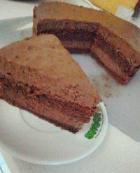 自己做的巧克力慕斯蛋糕