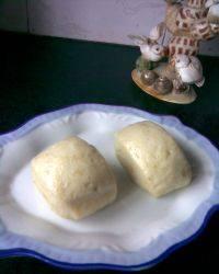 美味早餐牛奶燕麦馒头