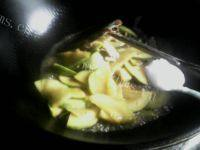 甘脆的南瓜炒肉片