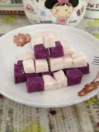 #美味时刻#紫薯山药糕