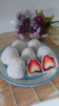 自己做的草莓大福