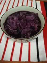 意犹未尽的紫薯银耳羹