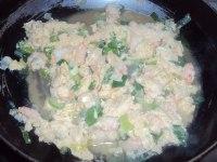 美味的虾仁炒蛋