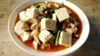 诱人的肉末烧豆腐