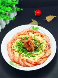 美味的蒜蓉虾