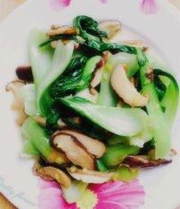 家常菜香菇青菜