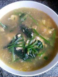 美味的菠菜鸡蛋汤