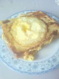 自己做的吐司煎蛋