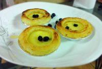 甘脆的蓝莓蛋挞
