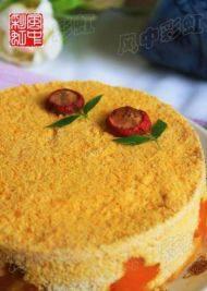 自己做的南瓜松糕
