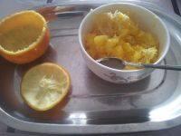 简单的盐蒸橙子