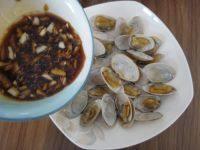 美味的烤花蛤