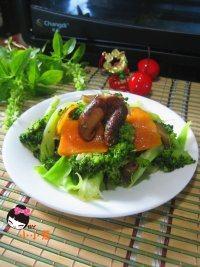 鲜美的香菇西兰花