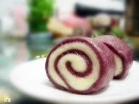 自己做的紫薯双色馒头