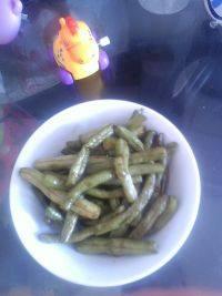 甘脆的清炒四季豆
