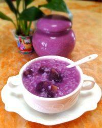 自制紫薯粥