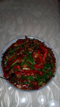 自制韭菜花炒肉