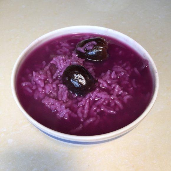 阿胶枣紫薯粥