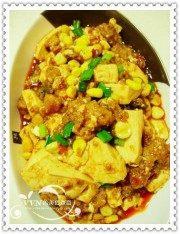 美味的粉蒸肉玉米豆腐