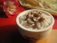 自己做的花生米饭