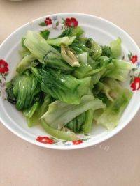 家常菜清炒生菜