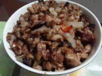 简单的香菇肉酱