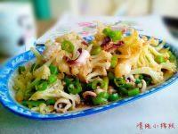 家常菜青椒炒花菜