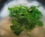 美味的干贝萝卜汤