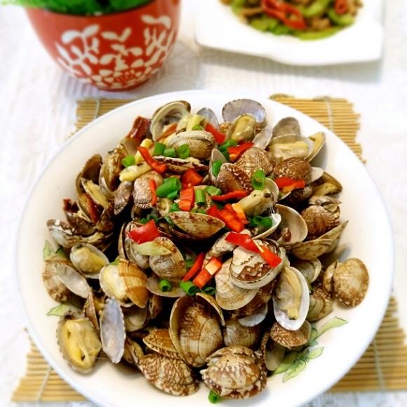 美味营养的辣炒花蛤