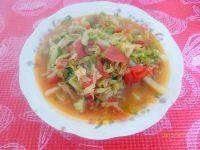 营养丰富西红柿炒包菜