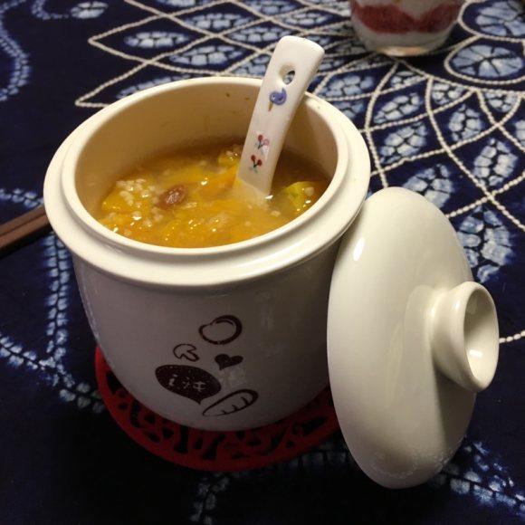 喷香的南瓜小米粥