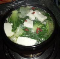 诱人的青菜豆腐汤