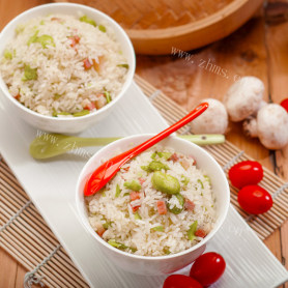 蚕豆火腿焖饭