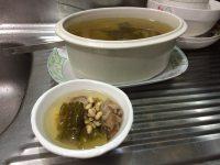 美味的苦瓜黄豆排骨汤
